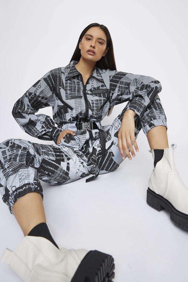 Jumpsuit THE REFLECTIVE 'JOURNEY' LONG SLEEVE JUMPSUIT
