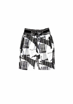 "THE  REFLECTIVE ""TRACT"" HIGH-WAISTED BIKER SHORT - Pants - Whyte Studio"