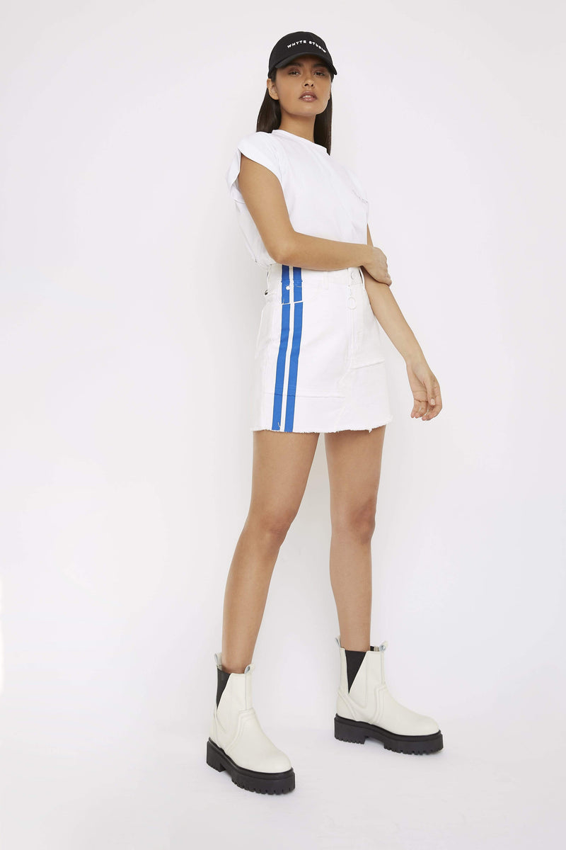 THE DOLOMITE DENIM MINI SKIRT - Skirt - Whyte Studio