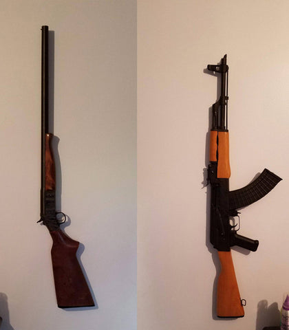 easy rifle wall mount | rifle mount for wall | rifle wall mount hooks