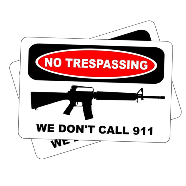 2-Pack No Trespassing Novelty Sign