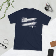 Pro Gun US Flag Arsenal Short-Sleeve Unisex T-Shirt
