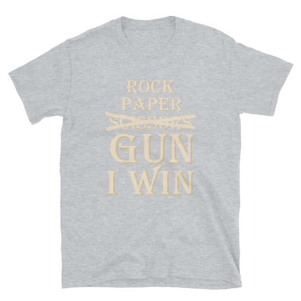 Rock paper Gun I win Short-Sleeve Unisex T-Shirt