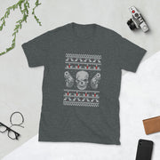 CROSS STICH SKULL Short-Sleeve Unisex T-Shirt