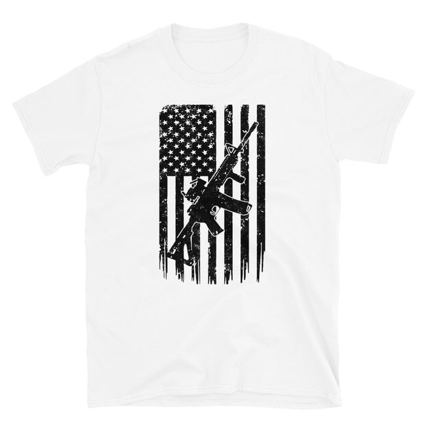 Gun Flag Short-Sleeve Unisex T-Shirt