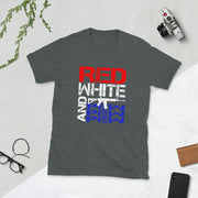 Red White And Pew Pew Pew Short-Sleeve Unisex T-Shirt