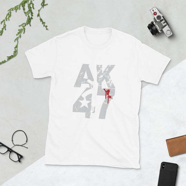 AK47 Bloody Short-Sleeve Unisex T-Shirt