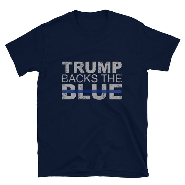 Trump Backs the Blue Short-Sleeve Unisex T-Shirt