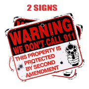 2-Pack Metal Private Property No Trespassing Warning Sign
