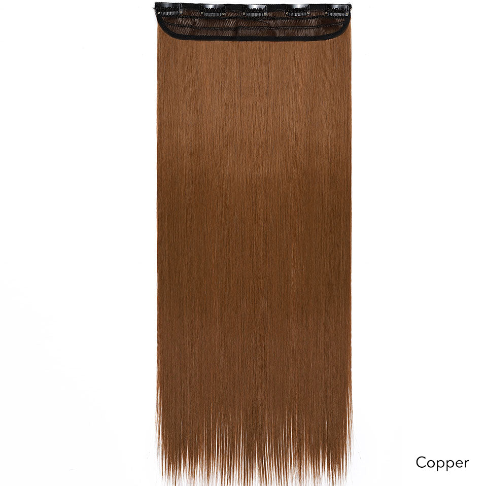 1 Strip Premium Fibre Clip In Hair (Straight) 24""