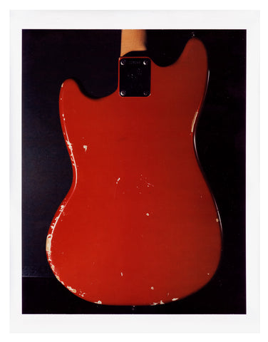 Jimi Hendrix Red Fender Mustang Back