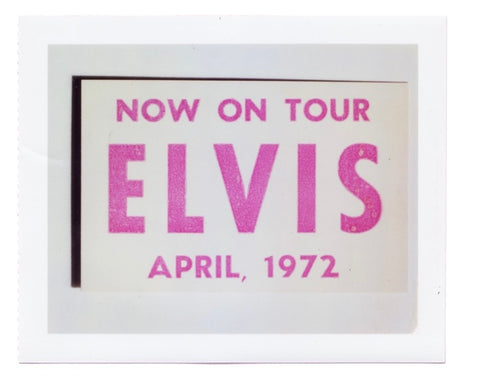 Elvis Presley Tour Poster April 1972