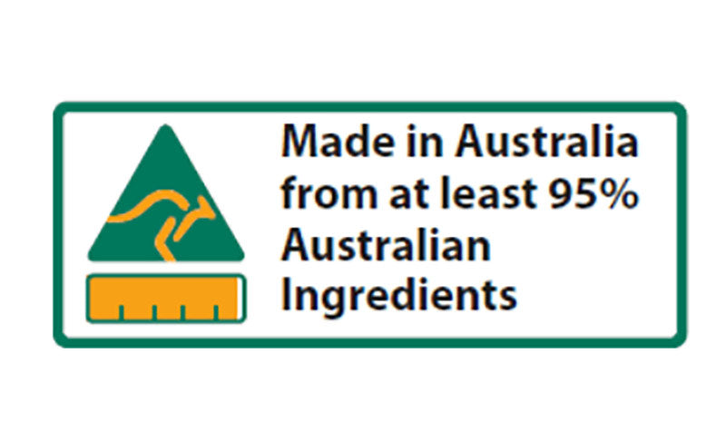 95% MADE IN AUSTRALIA LABELS(1000)