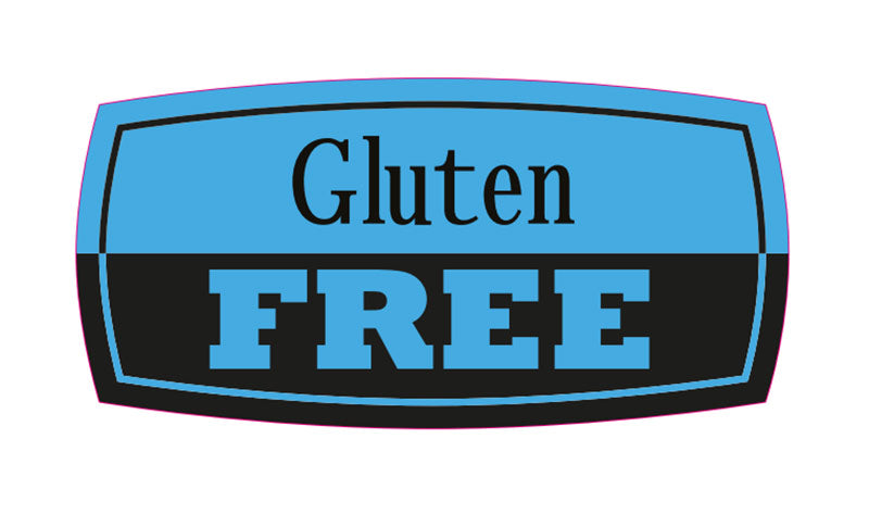 GLUTEN FREE  LABEL BLUE & BLK(1000)