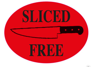 SLICED FREE-OVAL LABEL (1000)