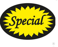 SPECIAL OVAL LABEL YELLOW/BLACK(1000)