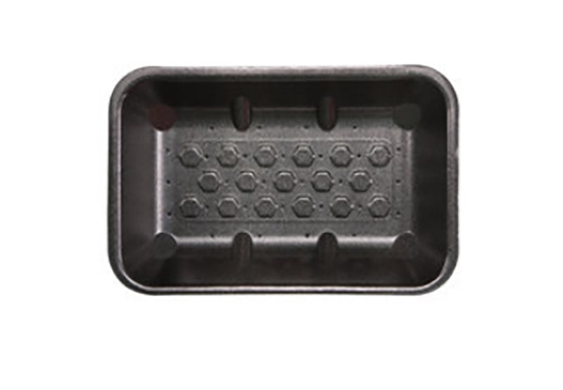 FOAM TRAYS - 8X5 BLACK ABSORB (360)