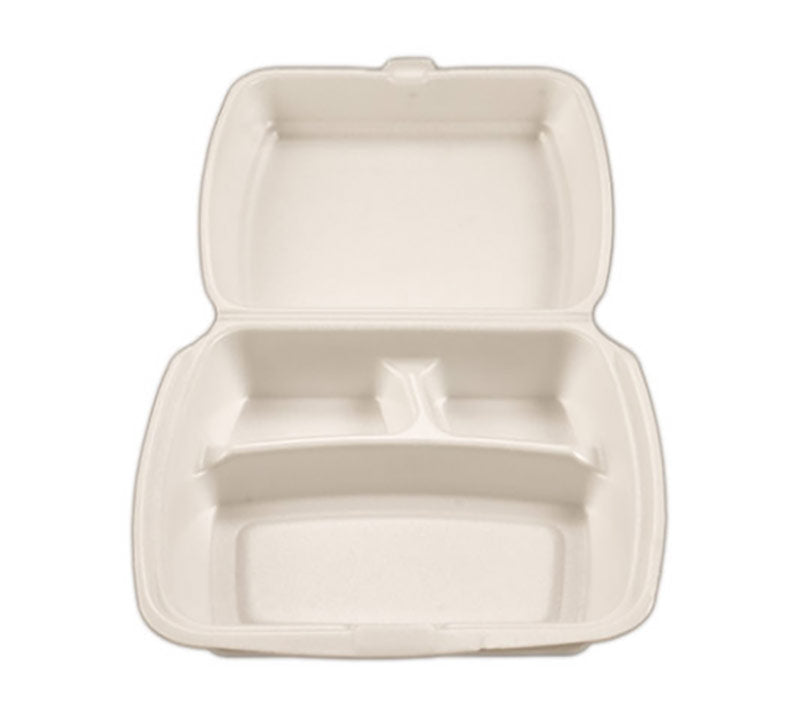 FOAM CLAM 3-COMPARTMENT(IK-FC05)(QTY 200
