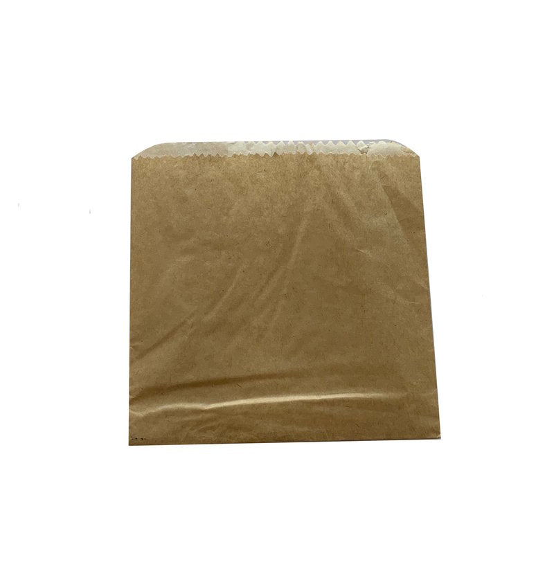 PAPER BAG-1/2 SQUARE GPL 136X145MM (500)