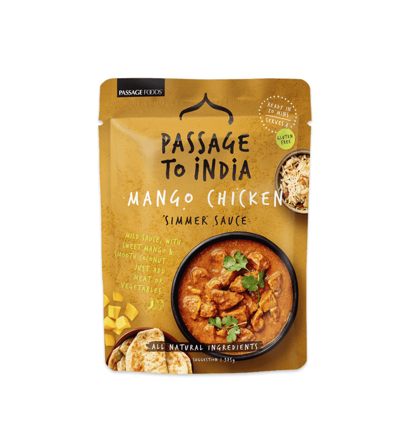 PASS TO INDIA MANGO CHICKEN CURRY 6X375G
