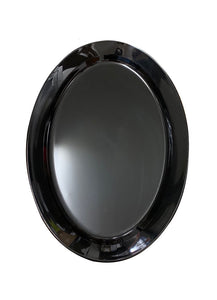 OVAL PLATTER BLACK 500MM X 350MM.