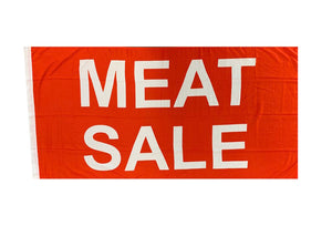 LARGE MEAT SALE FLAG 1800X900