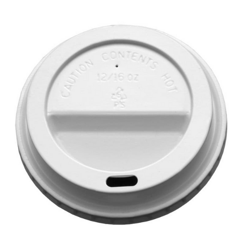 12oz/16oz Domed Lid - White 1000x (10x100)
