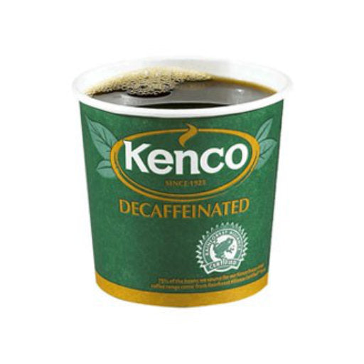 76mm InCup - Kenco Decaff Coffee White - 375 cups (15x25)