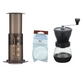 Home Barista Set: AeroPress + Filters + Hario Skerton Plus Grinder
