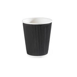 12oz Black Ripple Wall Hot Cup - 500x (20x25)