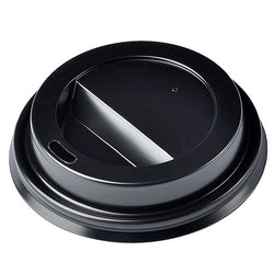 12/16oz Sip-Through Domed Lid - Black 1000x (10x100)