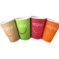 8oz Enjoy Double Wall Paper Cup - 875x (Lid to fit HSL80)