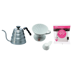 HARIO Barista Set: V60 Serving Kettle + V60 02 Cup (Ceramic) + V60 Filters