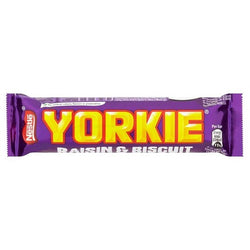 YORKIE Biscuit & Raisin Milk Chocolate Bar (24x44g)