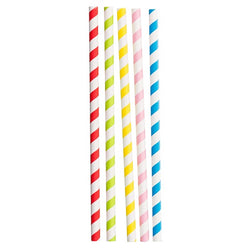 Straws - Multi Colour 225x11mm Jumbo Paper (1x100)