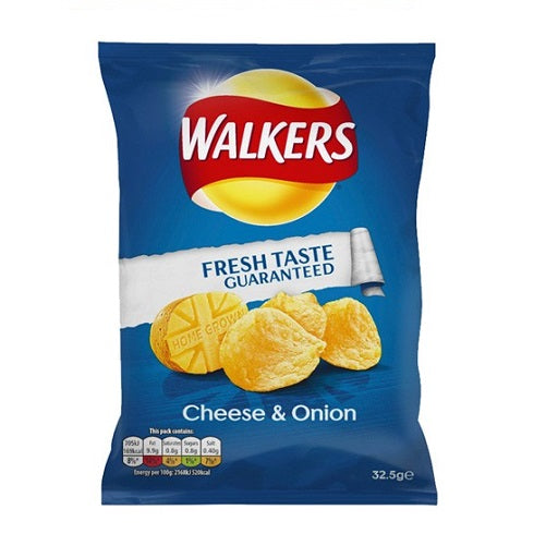 Walkers Cheese & Onion Crisps (32x32.5g)