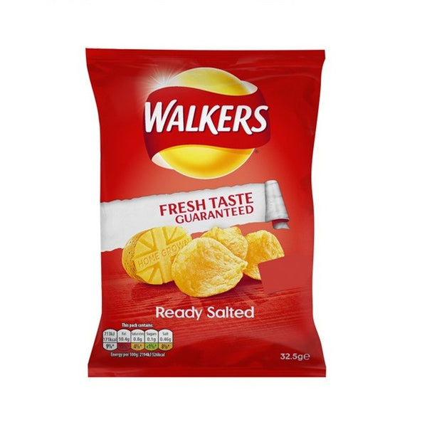 Walkers Ready Salted Crisps (32x32.5g)