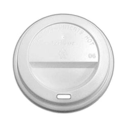 Hot Sip Lid (HSL80) (Fits 9oz) - White 1000x (10x100)