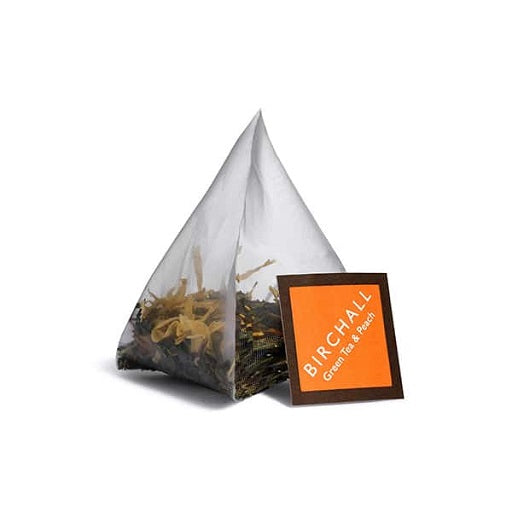 Birchall Green Tea & Peach - Prism Bags (1x15)