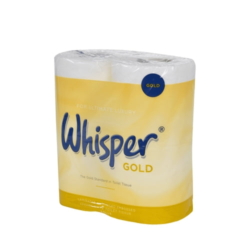 Whisper Gold 3Ply Luxury Toilet Roll (10pk x 4 rolls)