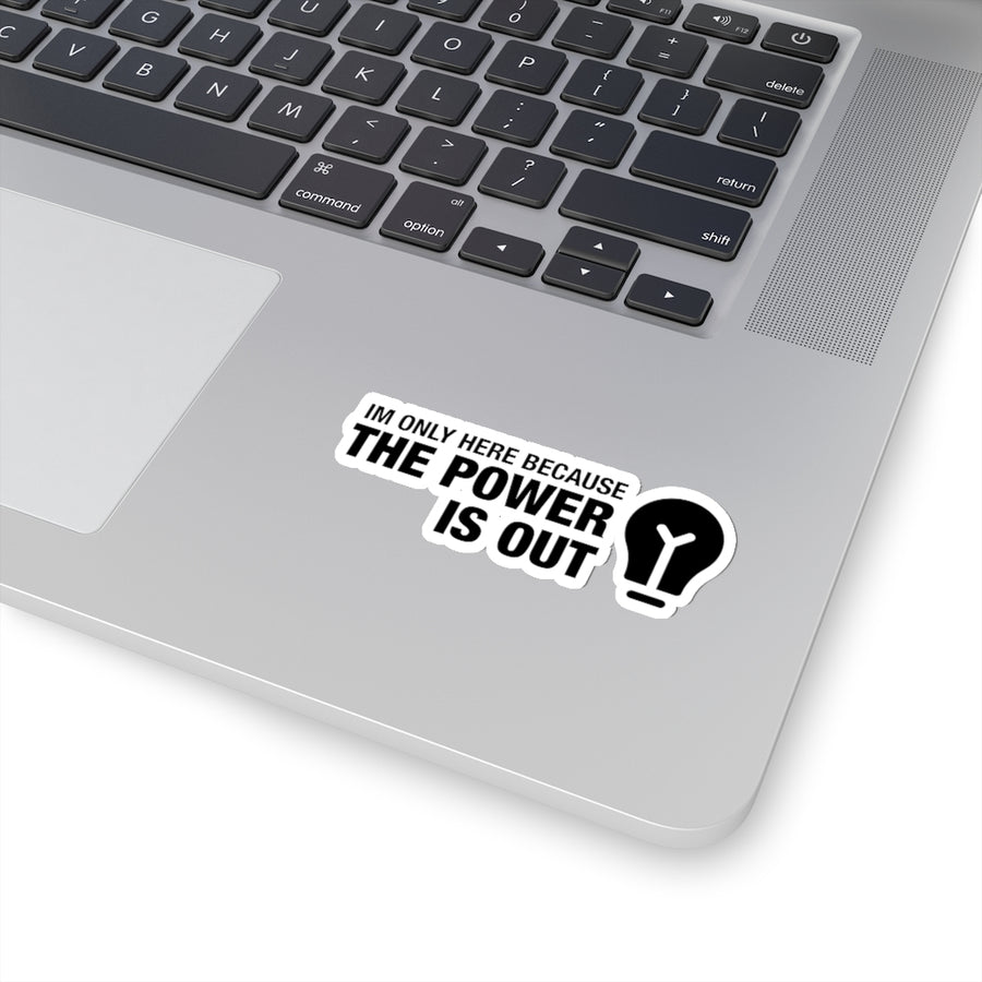 Power is Out - Hard Hat Sticker