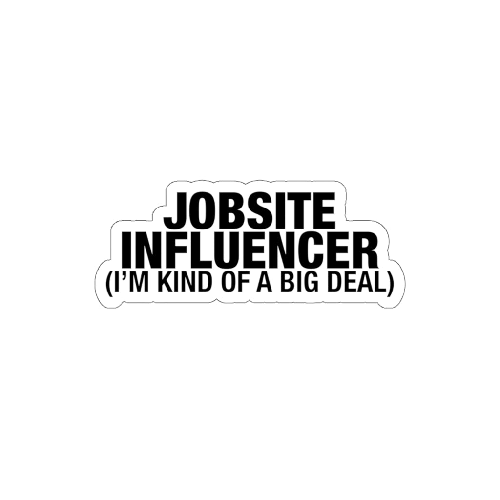 Jobsite Influencer - Hard Hat Stickers