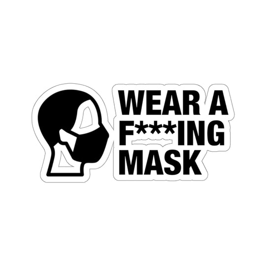 Wear A Mask - Hard Hat Sticker