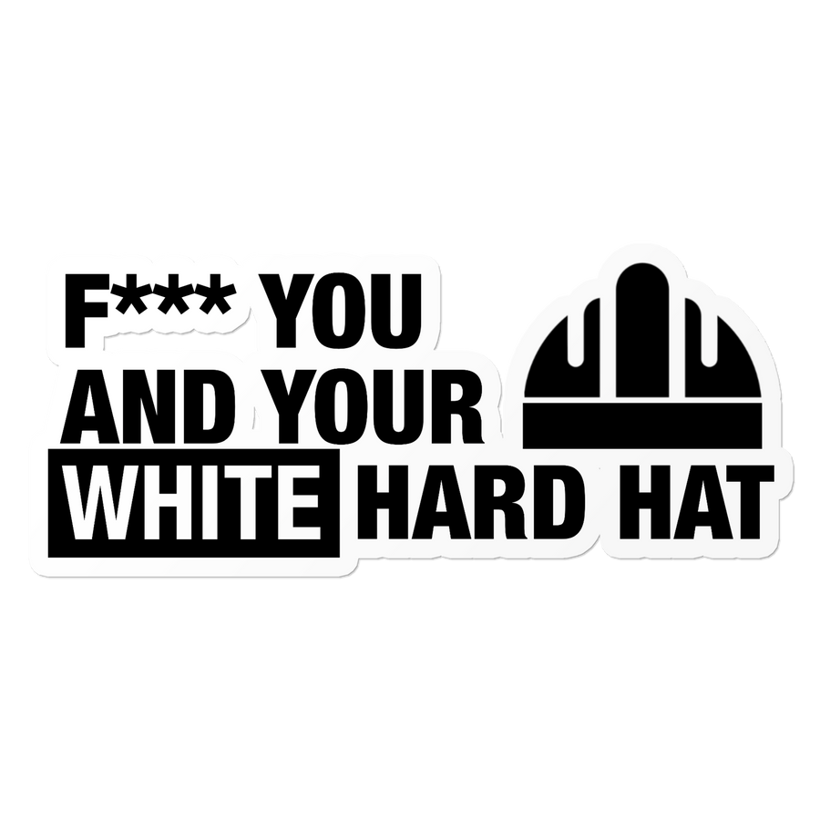White Hard Hat - Construction Sticker