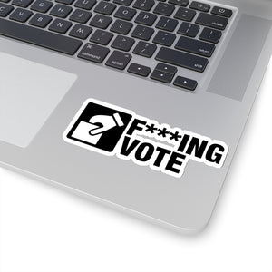 F***ing Vote - Construction Stickers