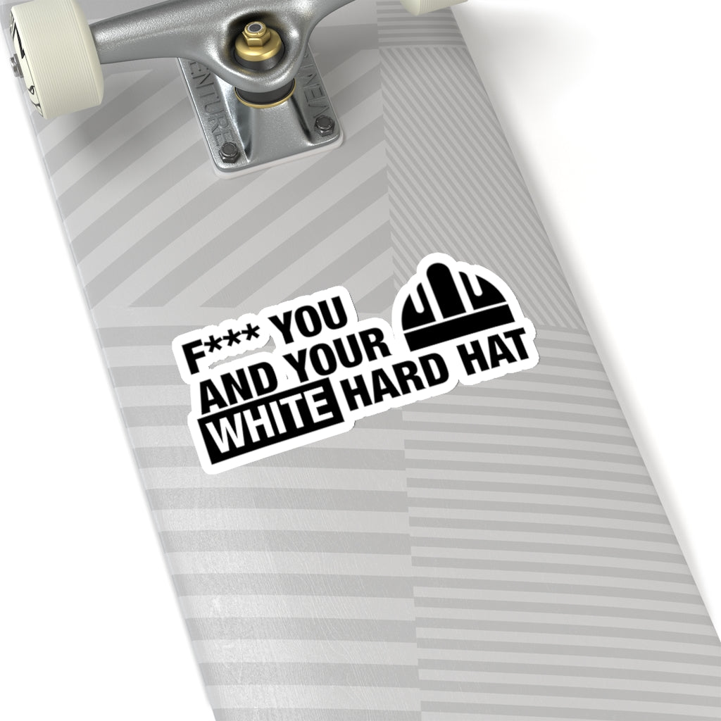 White Hard Hat - Hard Hat Sticker