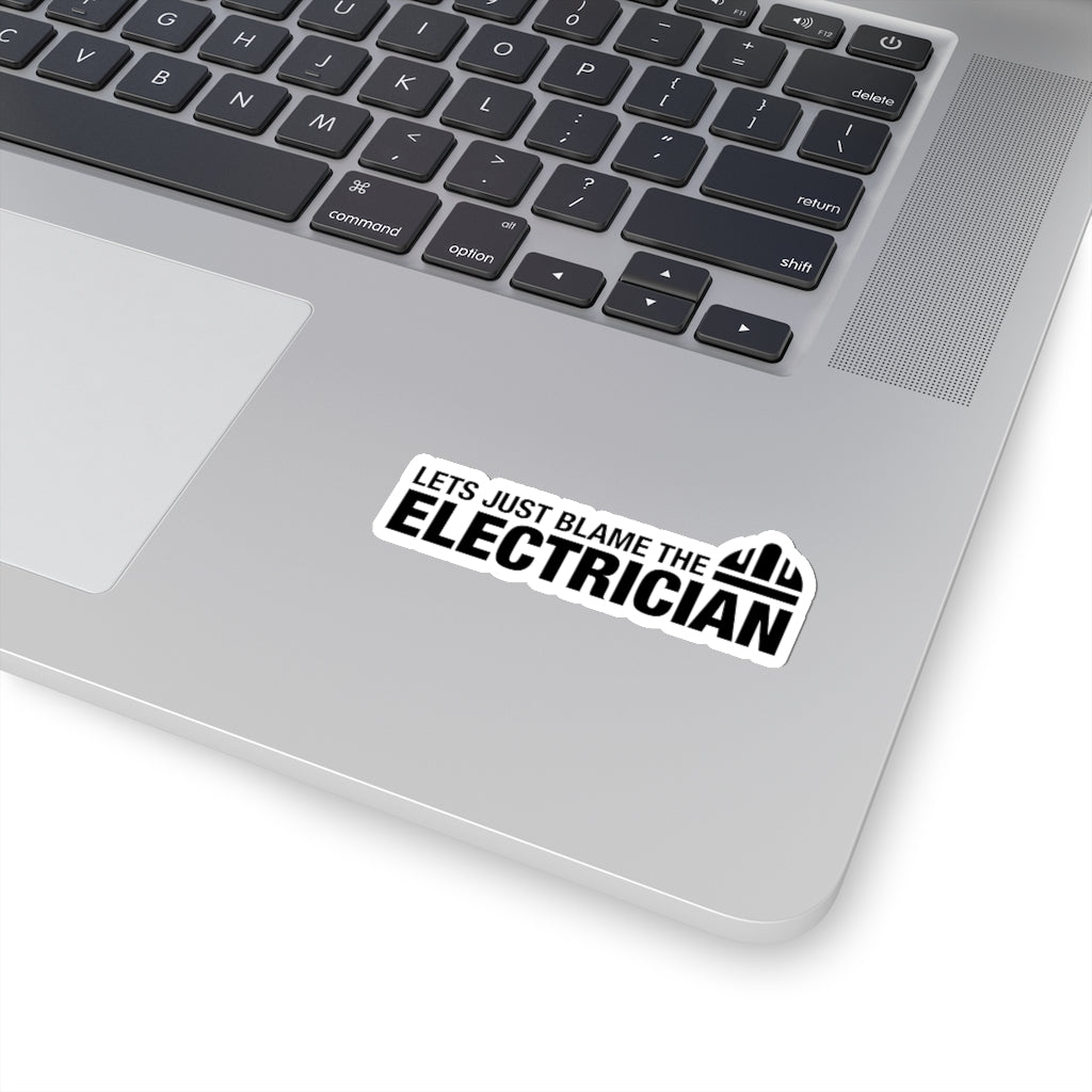 Blame The Electrician - Hard Hat Sticker