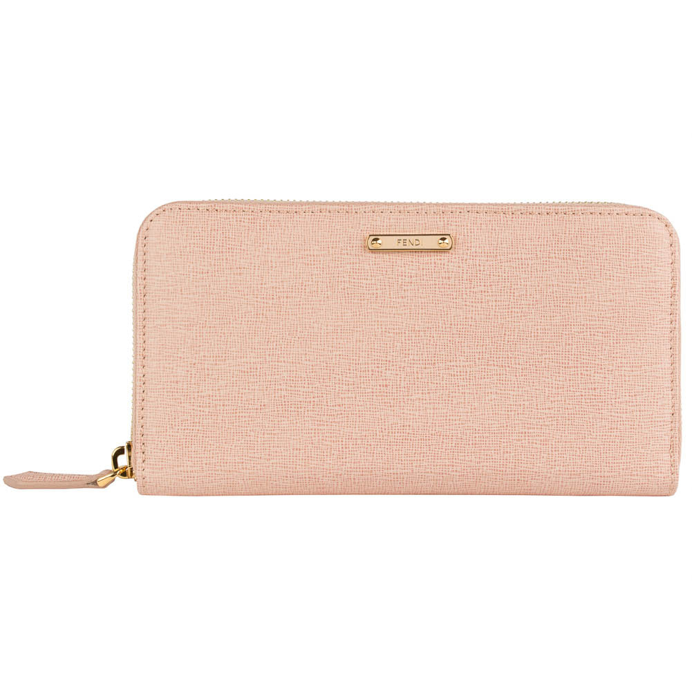 Fendi 'Crayons' Leather Wallet - Nude