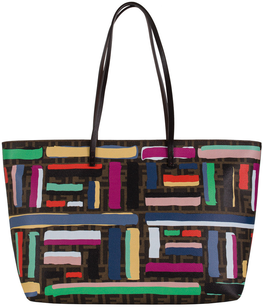 Fendi Chalks Print Roll Multicolored Tote Bag