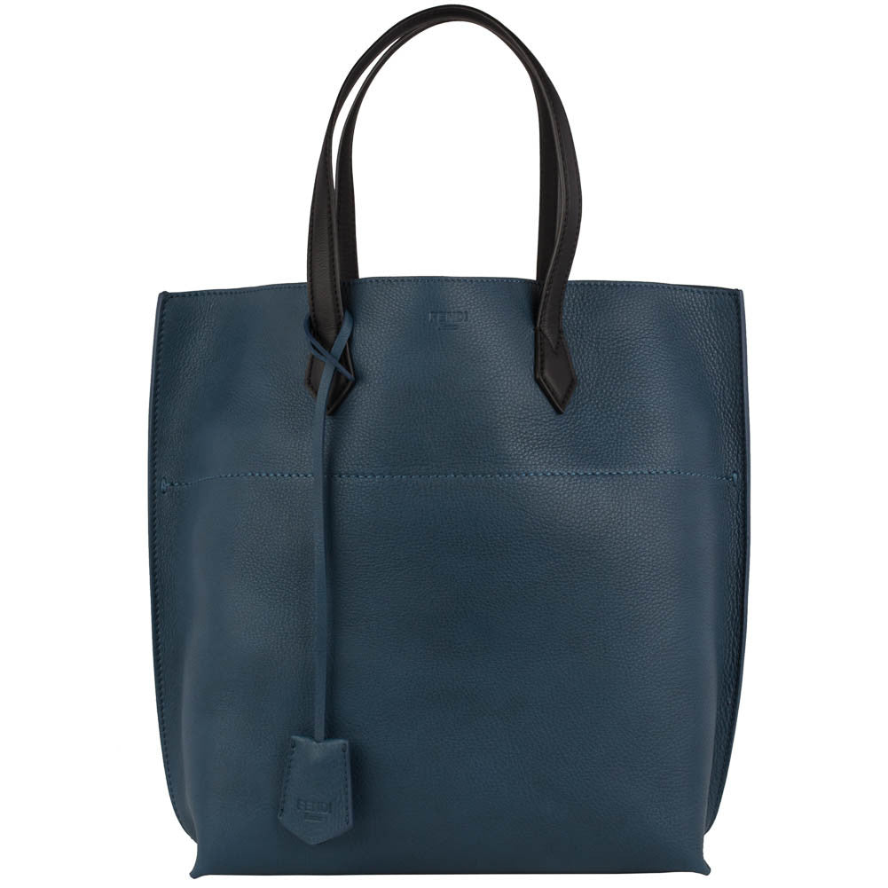 Fendi Leather Shopping Tote - Ocean